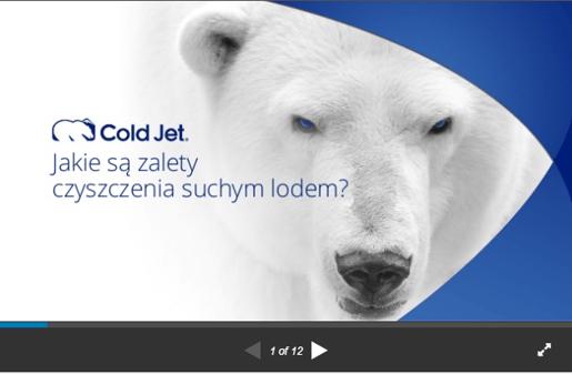 zalety czyszczenia suchym lodem Cold Jet