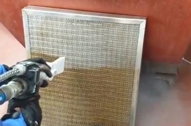 czyszczenie filtrów czujników suchym lodem